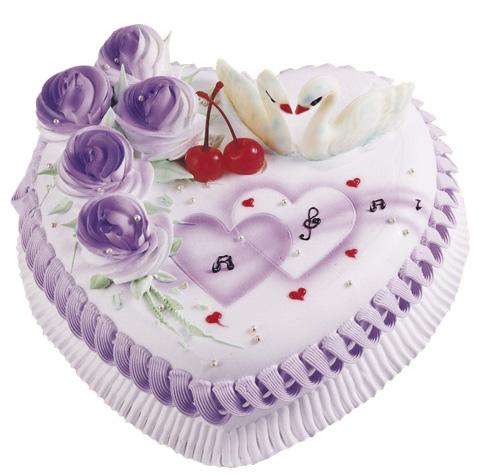 鲜花蛋糕套餐-情人心型蛋糕