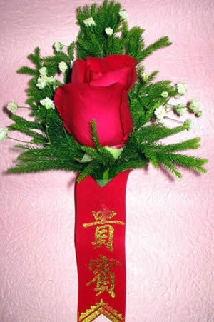 订花-玫瑰胸花4