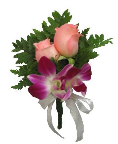 送花-兰花玫瑰胸花