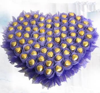 鲜花店-心型巧克力