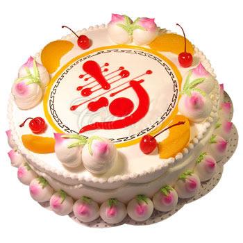 水果蛋糕-仙桃祝寿