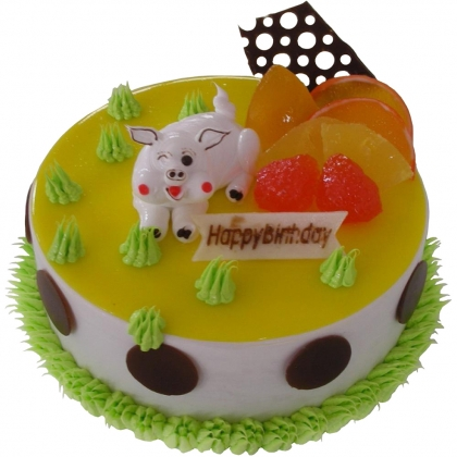 鲜花蛋糕速递网-灿烂猪宝贝