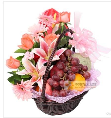 水果鲜花套餐-果篮・节日快乐