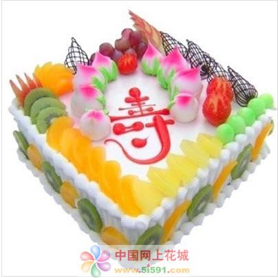 鲜花蛋糕套餐-蟠桃贺寿