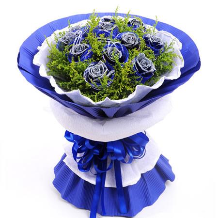 鲜花快递网-蓝色之恋