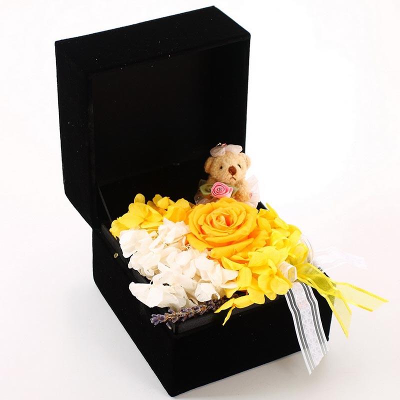 鲜花店-保鲜花-玫瑰小熊B款