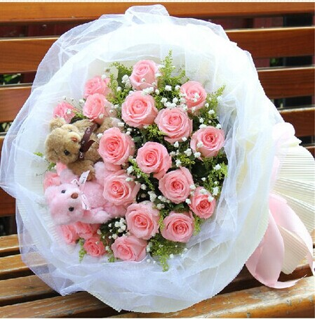 预订鲜花-粉色梦幻