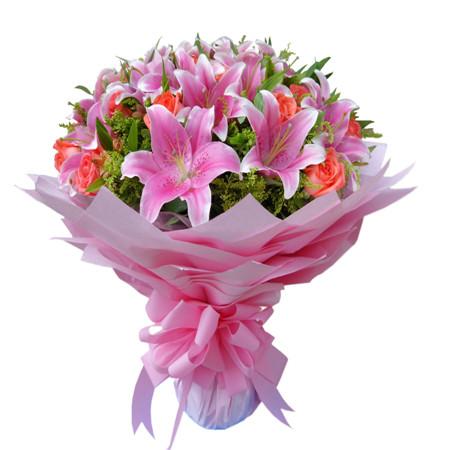 鲜花礼品-粉色爱情
