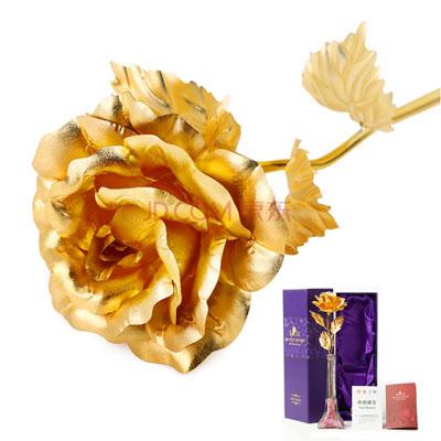鲜花店-金箔玫瑰埃菲尔瓶