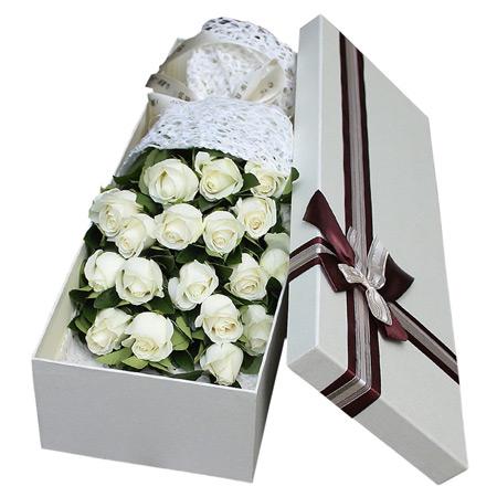 鲜花网站-白色风情