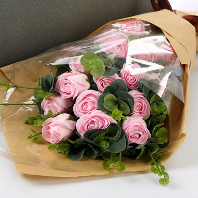鲜花网-香皂花-粉玫瑰