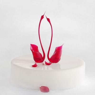 黑天鹅蛋糕图片-黑天鹅 美丽人生(白)