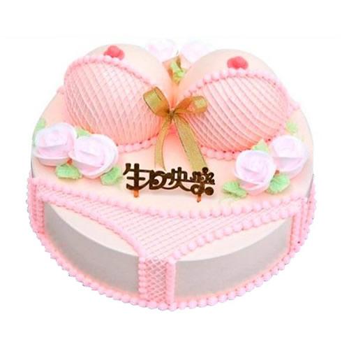巧克力水果蛋糕-粉色爱恋