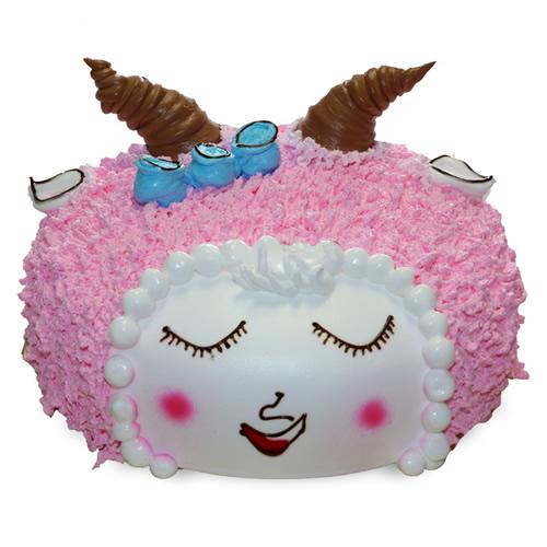 水果蛋糕-美丽小羊