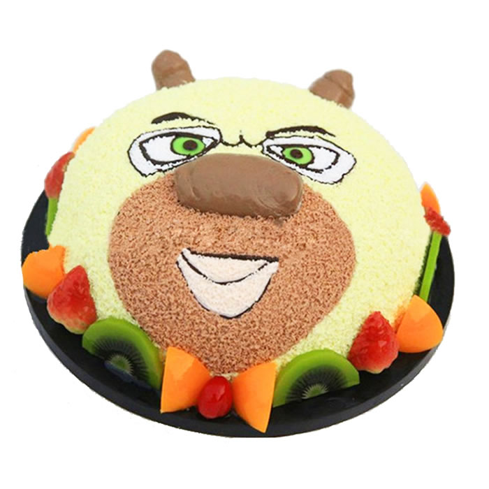 鲜花蛋糕套餐-熊大