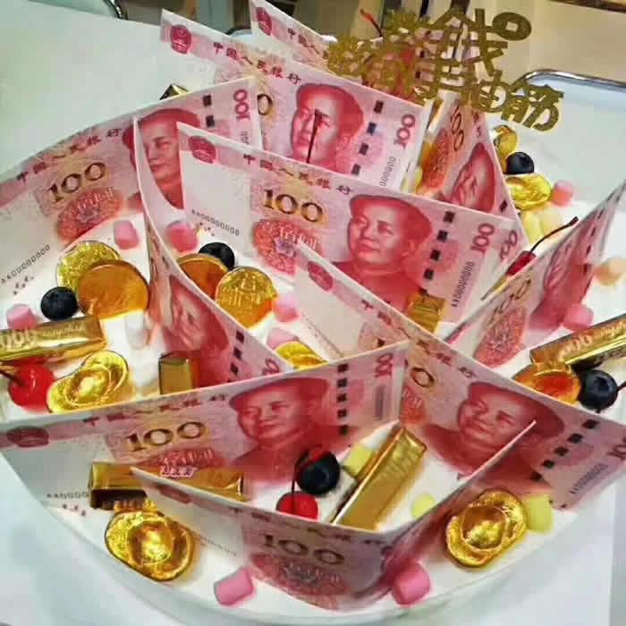 生日鲜花蛋糕-有钱啦