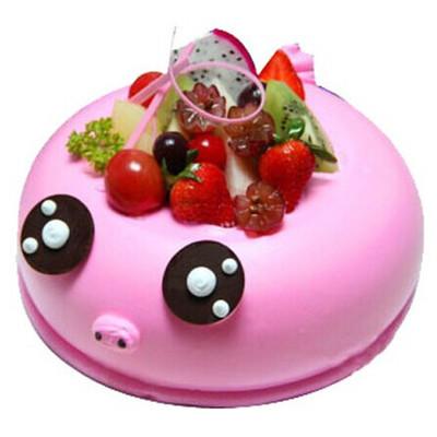 鲜花蛋糕速递网-萌萌猪