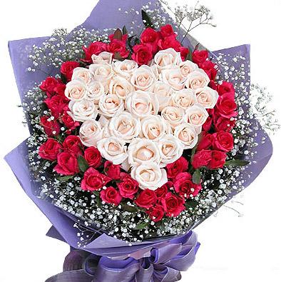 护士节礼物                                                                                          鲜花网:心心相印