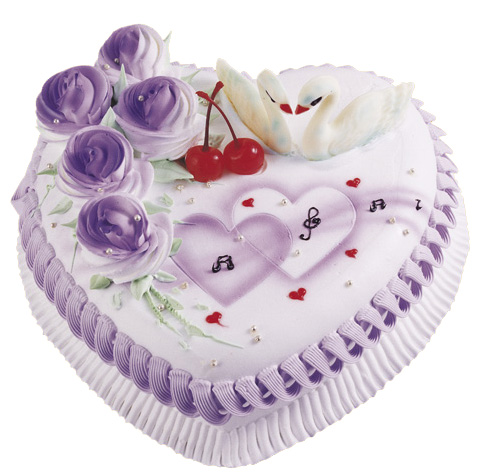 重庆鲜花:情人心型蛋糕