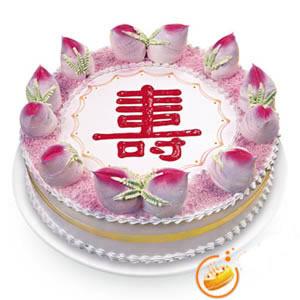 蛋糕订制                                                                                            鲜花网:祝寿蛋糕