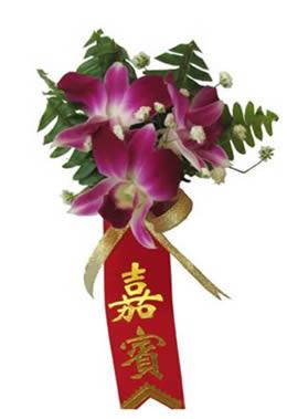 鲜花花篮                                                                                            鲜花网:石斛兰胸花