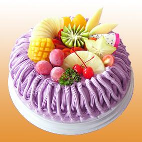 重庆永生花:多彩水果蛋糕