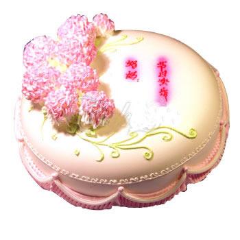 网红蛋糕                                                                                            鲜花网:我爱您