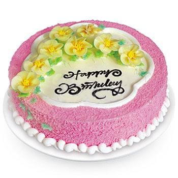 多层蛋糕                                                                                            鲜花网:一见钟情