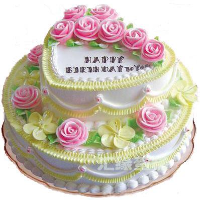 重庆网络订花:2层鲜奶蛋糕