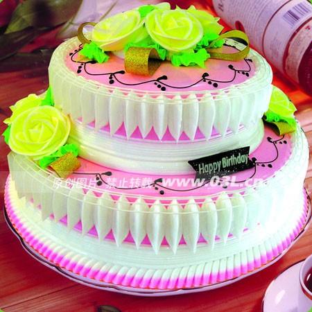 蛋糕订制                                                                                            鲜花网:2层鲜奶蛋糕