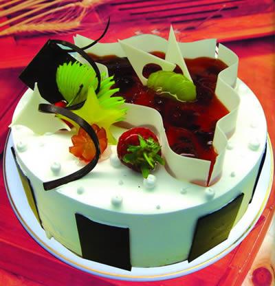 生日蛋糕                                                                                            鲜花网:欢天喜地