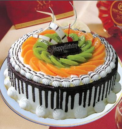 多层蛋糕                                                                                            鲜花网:水果巧克力情