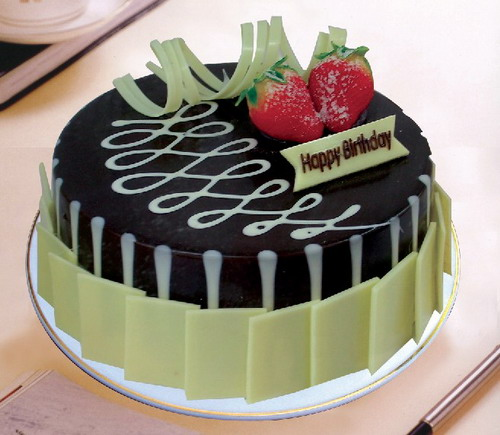 天津生日蛋糕:黑白之恋