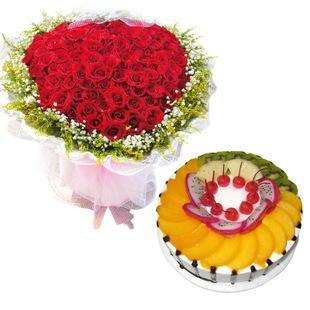 成都鲜花蛋糕套餐:永恒不变的爱