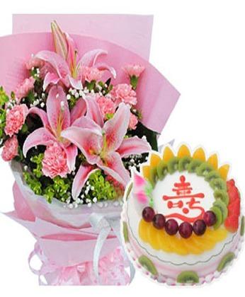 成都鲜花蛋糕套餐:祝福安康