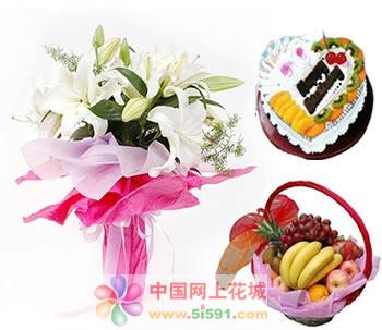 成都鲜花蛋糕套餐:爱的手势