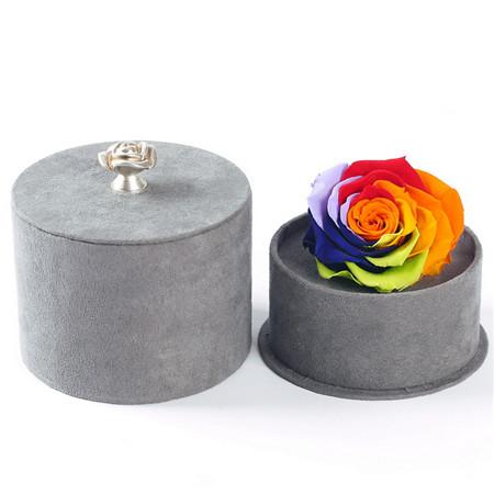 德州鲜花:灰盒彩虹玫瑰