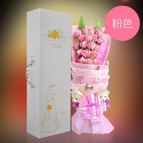 南昌肥皂花:19朵粉色香皂花礼盒