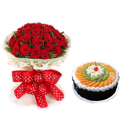 成都鲜花蛋糕套餐:生日快乐