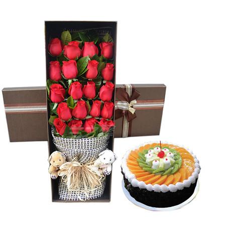 成都鲜花蛋糕套餐:生日祝福