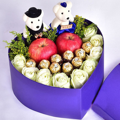 法国鲜花快递网-圣诞礼盒3