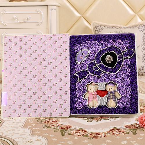 瑞安肥皂花:一箭穿心+牵手熊 紫色