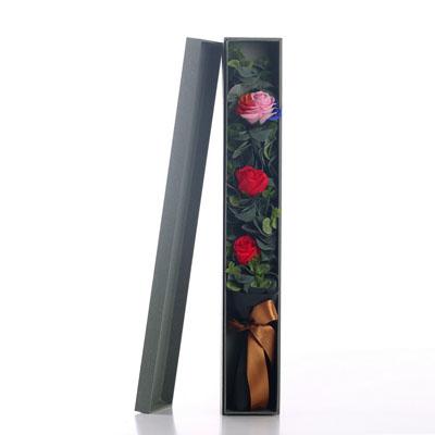 常德肥皂花:香皂花-1朵彩虹2朵红玫瑰