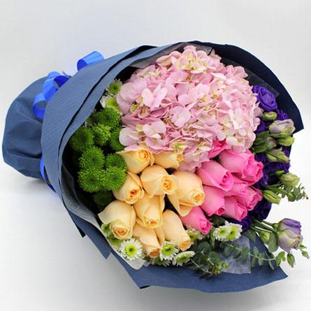 鲜花订购-五彩心情