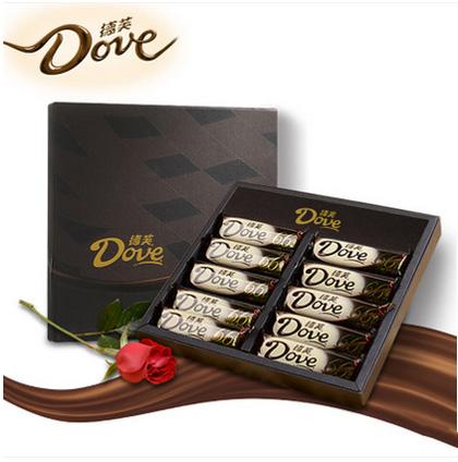 吉林省生日礼物:德芙巧克力礼盒66%醇黑巧克力