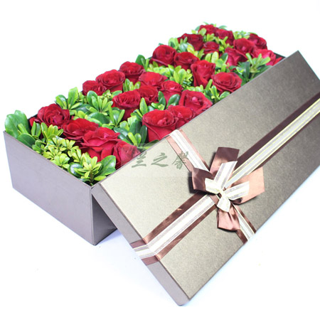 陶波鲜花礼品店-1314玫瑰礼盒-一生一世