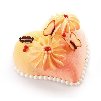 哈根达斯:哈根达斯 冰淇淋蛋糕 心花蝶恋