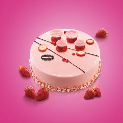 哈根达斯:哈根达斯 冰淇淋蛋糕 草莓心情