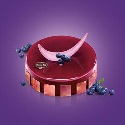 哈根达斯:哈根达斯 冰淇淋蛋糕 蓝莓之吻