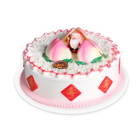 网红蛋糕                                                                                            鲜花网:元祖蛋糕-蟠桃献颂
